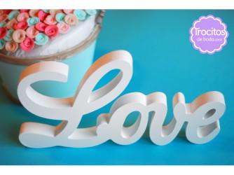 Love trocitos de boda
